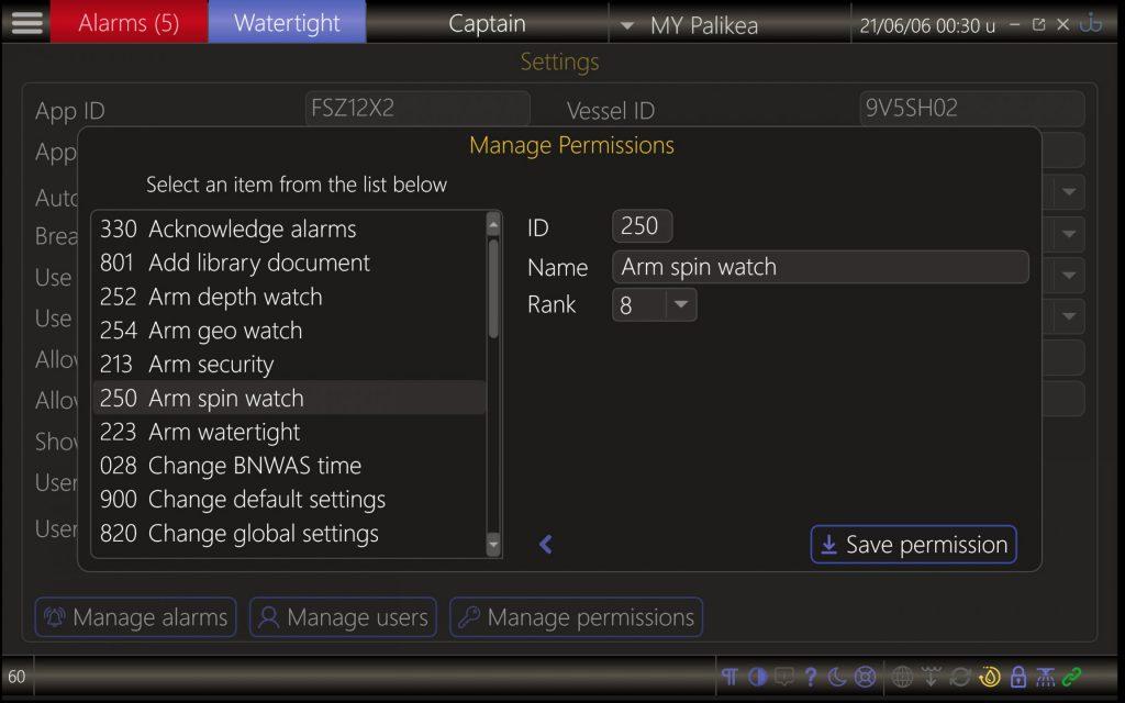 UI-X2 manage permissions